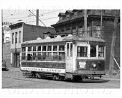 Trolley 1662 on Broadway & Vernon Blvd close-up Astoria 1938
