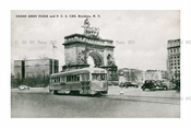 Trolley passing by Grand Army Plaza