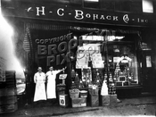 Typical Bohack's store in Bushwick, 1920