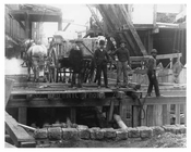 Under Construction - workers along 4th Avenue & 16th Street 1901 Park Slope Brooklyn, NY