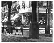 Upclose shot of kids in the street at Brook & Westchester Avenues - South Bronx, NY 1904
