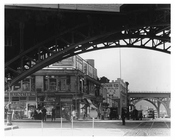 Upclose view of 125th Street IRT Subway Viaduct looking down Manhattan Avenue 1915