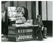 Upclose view of Columbus Circle Station News Stand - Midtown -  Manhattan 1912