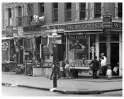 Upclose view of Lexington Avenue & 104th Street 1911 - Upper East Side, Manhattan - NYC