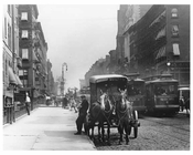 Upclose view of Lexington Avenue & 33rd Street 1911 - Upper East Side, Manhattan - NYC