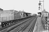 Van Siclen Avenue on Fulton Street elevated over Pitkin Avenue. (Photos of other stations available), 1956