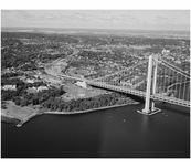 Verrazano Bridge - Staten Island anchorage and tower