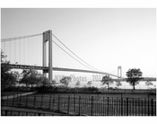 Verrazano Narrows Bridge - Brooklyn side looking south