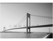Verrazano Narrows Bridge - Brooklyn Tower looking west
