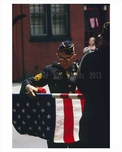 Vetran folding the American Flag  - Greenwich Village  - Manahattan 1968
