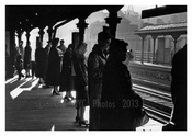 Waiting for the train 3rd Ave L 1940's  - Lower East Side  - Downtown Manhattan