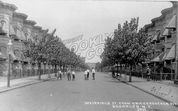 Weirfield Street, looking north from Knickerbocker Avenue, c.1908