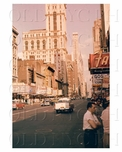 West 42nd east to Times Square 1950s