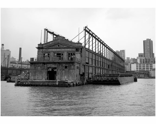 West 55th Street pier outshore facade & southside - facing the Hudson River