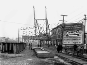 West End elevated being built at New Utrecht Avenue at 42nd Street, 1915