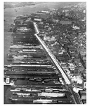 West Side Piers - view north from Canal Street 1932