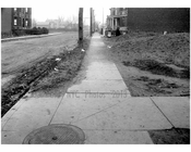 West sidewalk of West 5th, looking south from Ave T -  1922