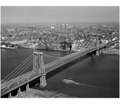 Williamsburg Bridge -  view from Manhattan with Queens in the background