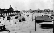 Williamsburg Bridge Plaza (Washington Plaza), looking northwest, 1910