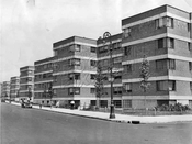Williamsburg Houses, corner Humboldt and Scholes Streets, 1938
