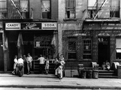 Williamsburg street scene, 225 Lee Avenue, 1944
