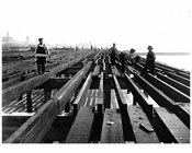 workers during constructions of Coney Island Boardwalk 1922
