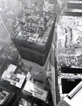 World Trade Center Tower One under construction, c.1971