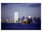 World Trade Center with a Ferry passing by