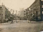 WWI block party for American Expeditionary forces, State Street west from Third Avenue to Nevins Street