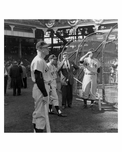 Yankees Mickey Mantle at Ebbets Field before the 1956 World Series Game