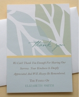 A Custom Thank You Sympathy Message