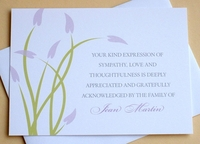 Custom Condolence Thank You Card With Purple Flowers
