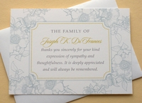 Custom Sympathy Thank You Card With Blue Flowers