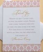 Funeral Thank You Note Cards - Custom