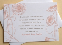 Personalized Note Card With Flowers