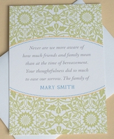 Personalized Thank You Sympathy Card