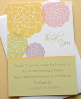 Personalized Thank You Sympathy Card With Colorful Flowers