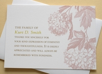 Sympathy Thank You Card - Floral and Feminine