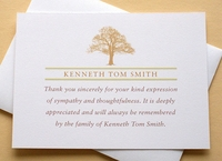Sympathy Thank You Card with a Large Tree