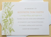 Sympathy Thank You Note Cards