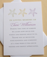 Sympathy Thank You Card with 3 Star Fishes