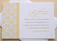 Thank You Sympathy Card with a Classic Design