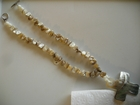 All Natural Shell :: Mother of Pearl Cross on Beige Abalone