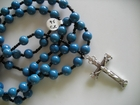 French Blue Glass 10mm (Catholic)