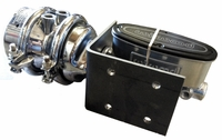 Air/Hydraulic Brake System Polished and Chromed with Polished Wilwood 1-1/8 Master Cylinder for Passenger Car and Light Truck