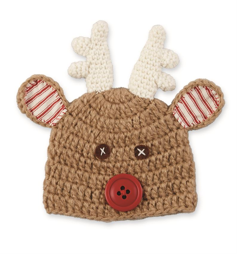 Knitting Pattern For Reindeer Hat : Mud Pie - Knitted Reindeer Hat #1502242