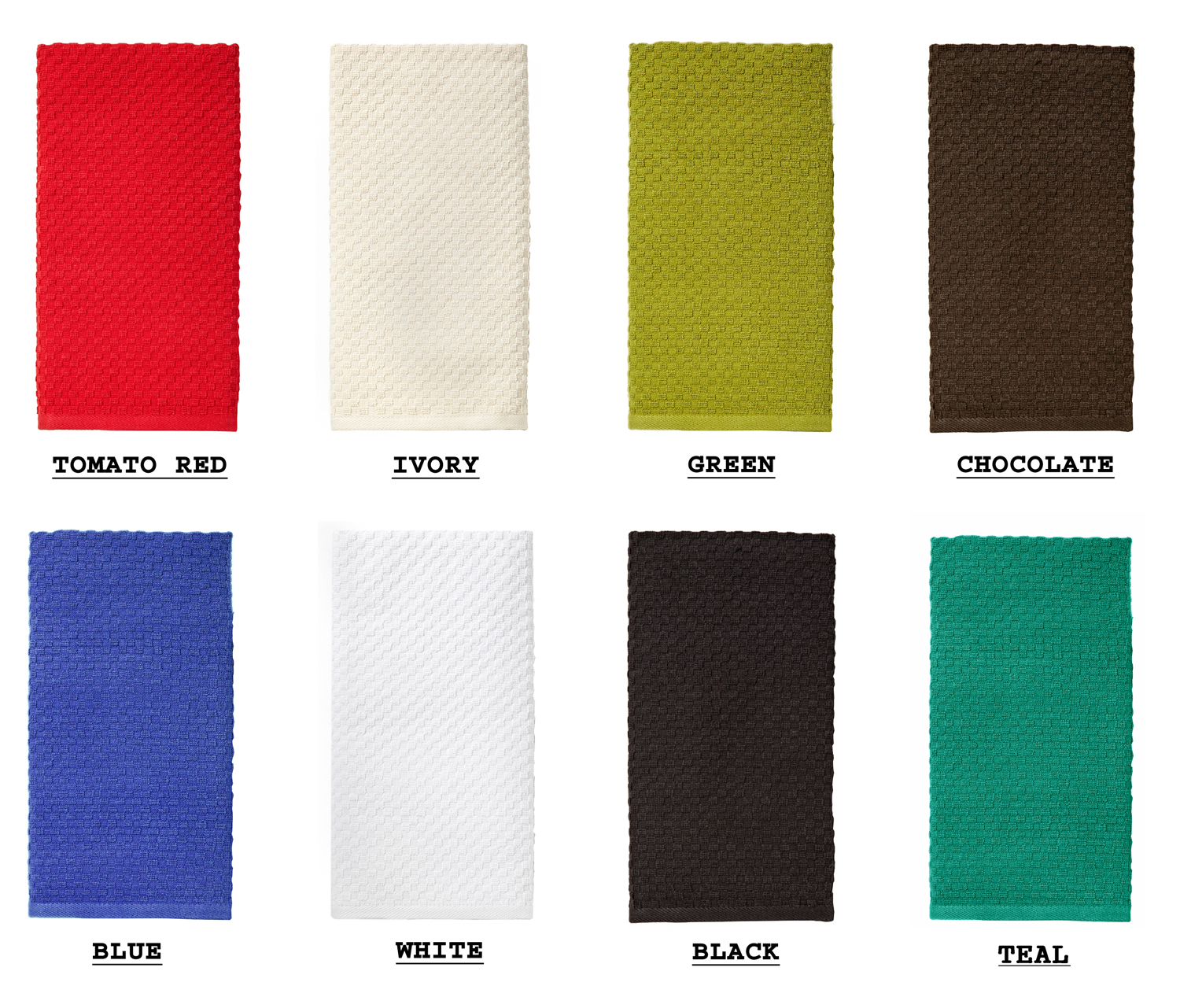 textileshop euro cafe waffle weave terry kitchen towels 16x28