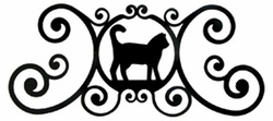 Cat Over Door Plaque