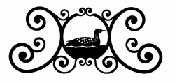 Loon Over Door Plaque