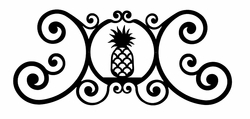 Pineapple Over Door Plaque